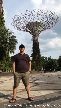 Hubby poses at the Super Trees