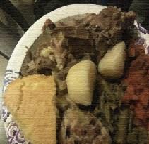 Neckbones and potatoes