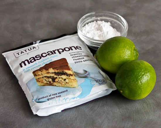 Lime Mascarpone Ingredients
