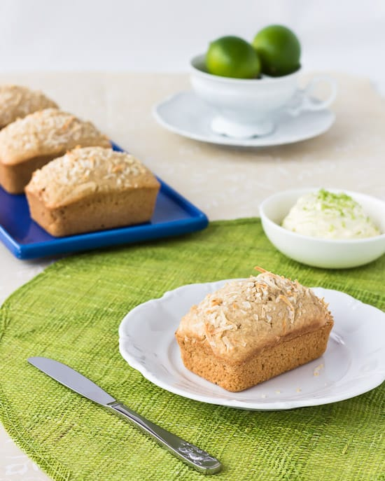 Coconut Bread with Lime Mascarpone