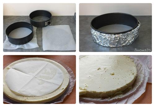 Making Vanilla Honey Cheesecake Layers