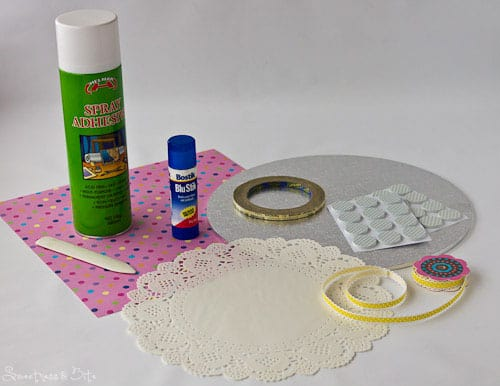 What you'll need to make doily covered boards