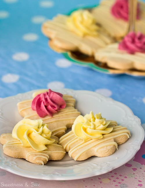 Fruity Frosted Flower Cookies
