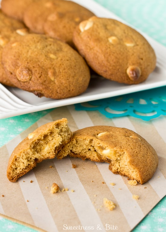 Caramel and White Chocolate Chip Cookies, Yum!
