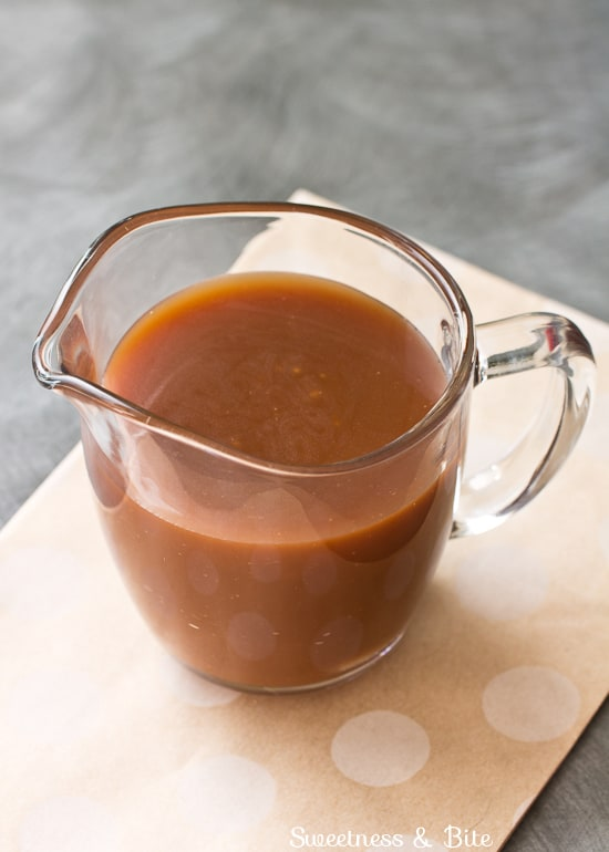 Caramel Sauce for Caramel White Chocolate Chip Cookies