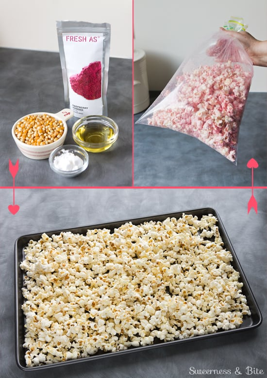 Making Fruity Party Popcorn {Naturally coloured and flavoured + gluten free}