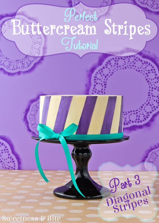 Perfect Buttercream Stripes Tutorial Part Two ~ Diagonal Stripes {Sweetness and Bite}