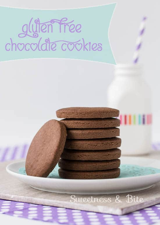 Simple gluten free chocolate cookies {Sweetness and Bite}