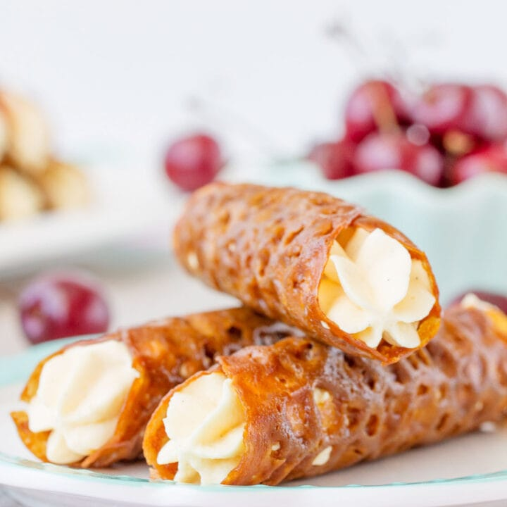 Gluten Free Brandy Snaps with Ultimate Whipped Cream