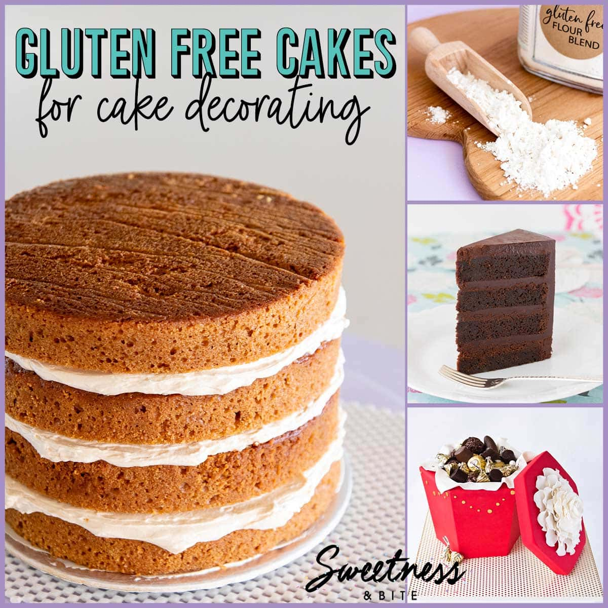 Gluten Free Cakes for Decorating. Suitable for covering in fondant and for tiered cakes. ~Sweetness & Bite