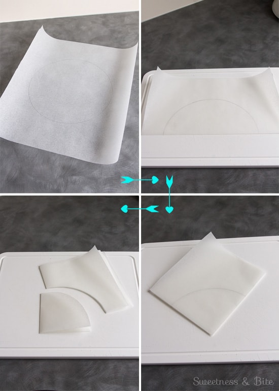How to Line a Cake Tin ~ cutting a circle to line the base