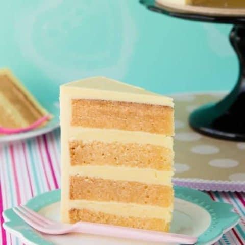 Gluten free white chocolate mud cake slice