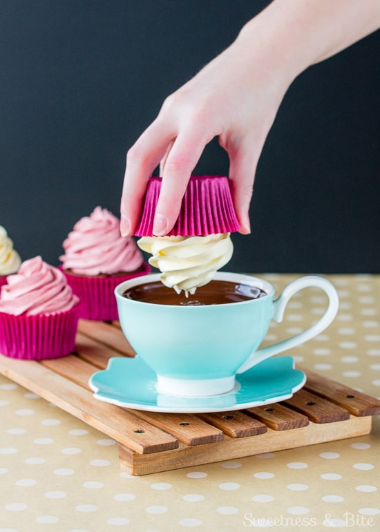 Neapolitan Surprise Cupcakes ~ Sweetness & Bite