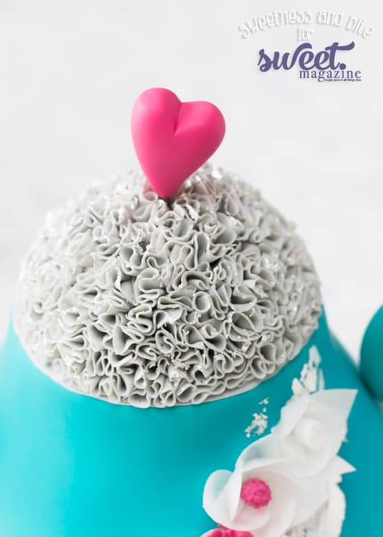 Teapot Cake Ruffled Lid
