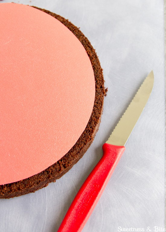 How to Ganache a Cake - Trimmed cake layers ~ Sweetness & Bite