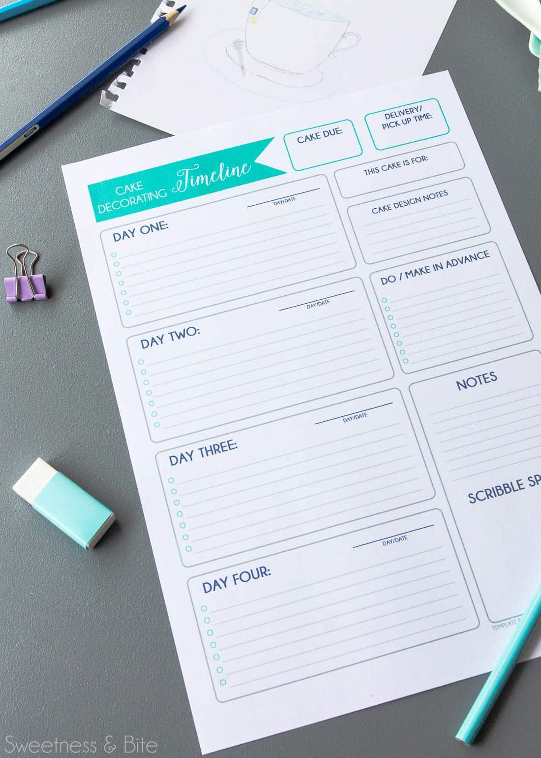 How to Write Your Own Cake Decorating Timeline with Free Printable Timeline Template ~ Sweetness and Bite
