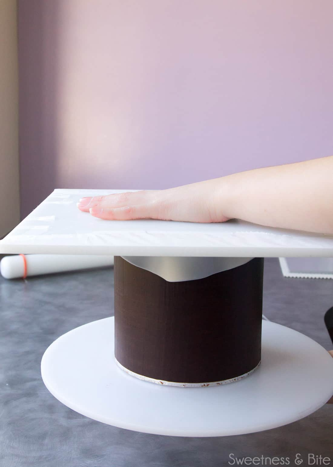 How to Wrap a Cake In Fondant ~ Sweetness & Bite