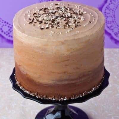 Chocolate and Vanilla Honey Cheesecake Layer Cake {Gluten Free, Or Not}