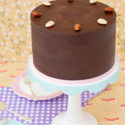 Gluten Free Toasted Almond Chocolate Cake