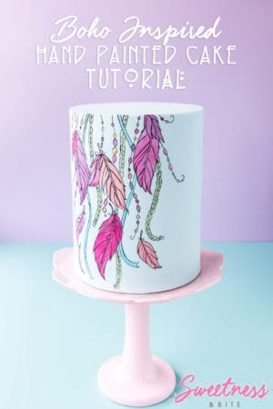 Boho Inspired Hand Painted Cake Tutorial ~ Sweetness & Bite