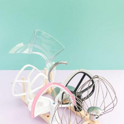 DIY Stand Mixer Attachment Organiser