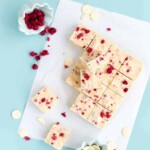White Chocolate and Raspberry Fudge Slice