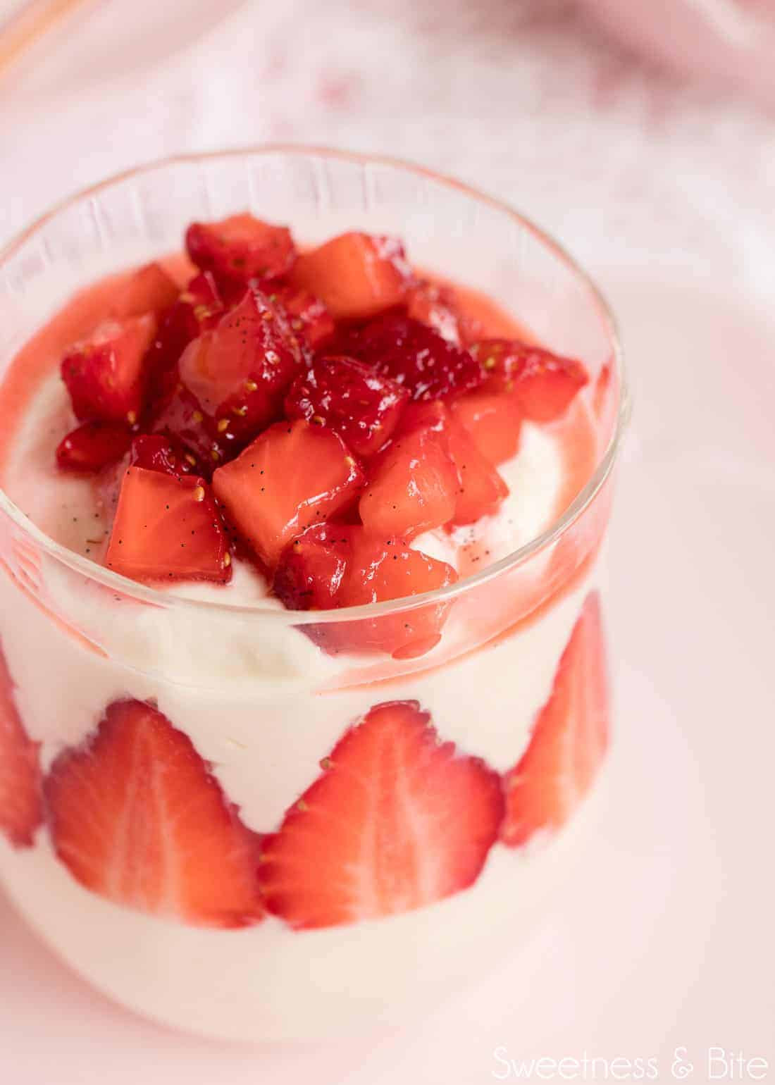 White Chocolate and Strawberry Mousse ~ by Sweetness & Bite