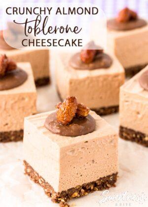 Crunchy Almond Toblerone Cheesecake