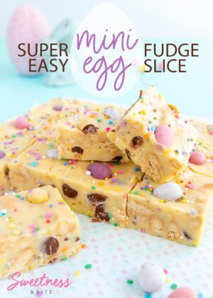 Mini Egg Fudge Slice