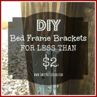 DIY Bed Frame Brackets For Less Than $2