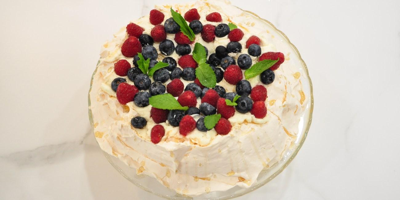 Pavlova tarta por encargo