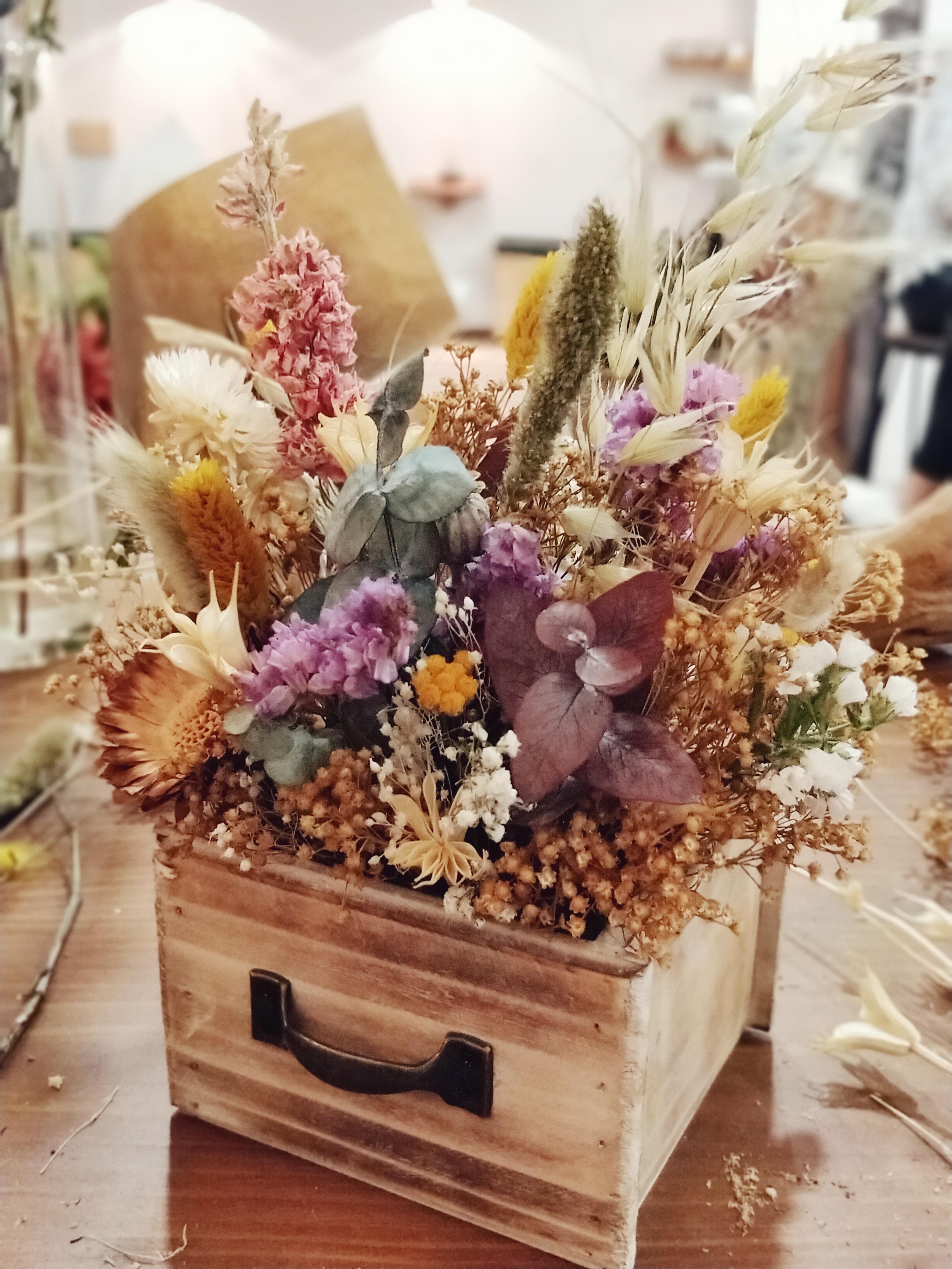 cajita flores secas provence