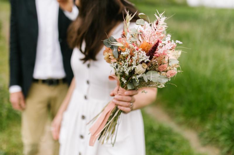 ramo novia flor seca