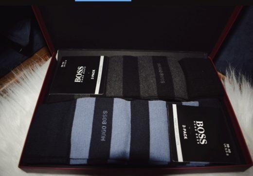 Hemd voor hem| Hugo Boss sokken als kerstcadeau voor een man