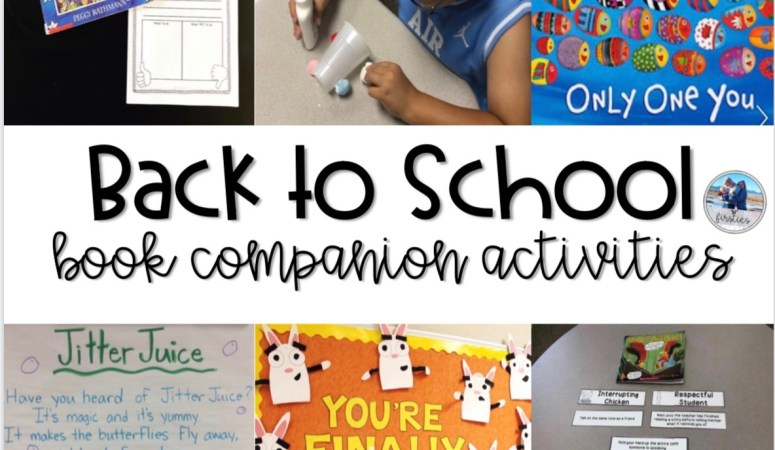 Back to School Book Companion Activities