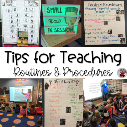Tips for teaching routines and procedures blog post