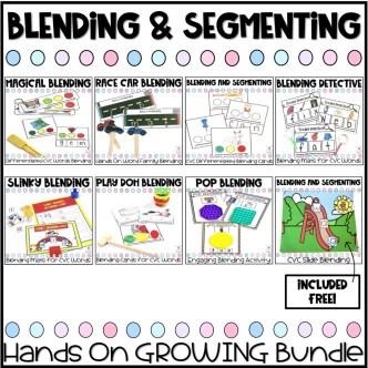 hands on blending and segmenting growing bundle