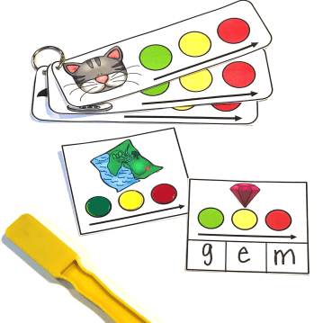 magical blending and segmenting with magnetic counters for CVC words