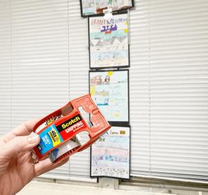 scotch packing tape teacher hack