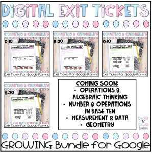Kindergarten Digital Exit Tickets for Google Forms