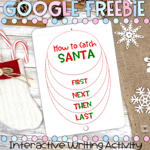 How to Catch Santa Writing Freebie