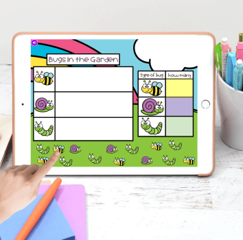 digital graphing activity for Google Slides and Seesaw