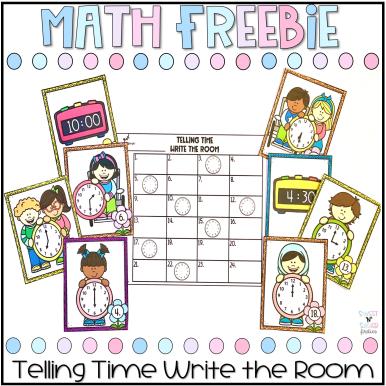 Telling Time Write the Room Freebie