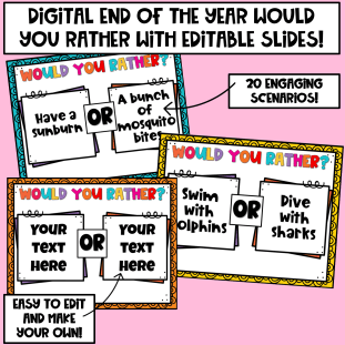 end of the year would you rather