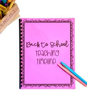 beginning of the year teaching timeline checklist freebie