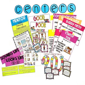 centers expectations lesson