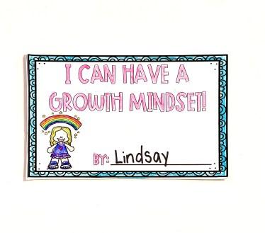 growth mindset mini book freebie