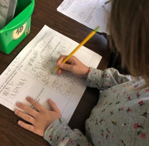 3 act tasks in first grade