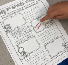first grade goal setting