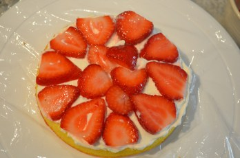 Add sliced strawberryC